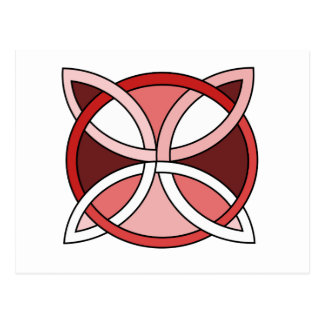 Celtic Knotwork Design - Interlacing Red Postcard