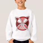 Celtic Knotwork Design - Interlacing Red Sweatshirt