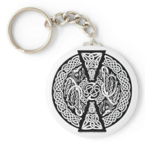 Celtic Knotwork Dragons Keychain
