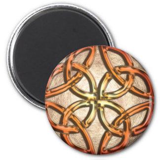 Celtic Knotwork Enamel 2 Inch Round Magnet
