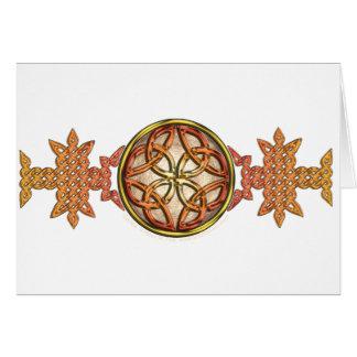 Celtic Knotwork Enamel Card