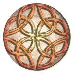 Celtic Knotwork Enamel Classic Round Sticker