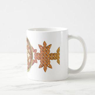 Celtic Knotwork Enamel Coffee Mugs