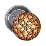 Celtic Knotwork Enamel Pinback Buttons