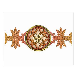 Celtic Knotwork Enamel Postcard