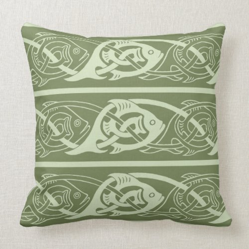Celtic Knotwork Fish in Green