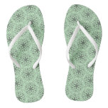 Celtic Knotwork Flower Flip Flops