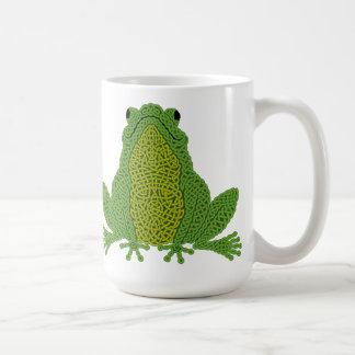 Celtic Knotwork Frog Mug - green