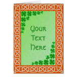 Celtic Knotwork Greeting Card Template