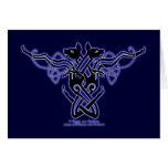 Celtic Knotwork Hounds Card