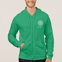 Celtic Knotwork Irish Medallion Pattern in Green Hoodie
