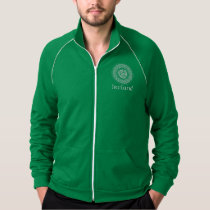 Celtic Knotwork Irish Medallion Pattern in Green Jacket
