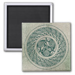 Celtic Knotwork Irish Medallion Pattern in Green Magnet