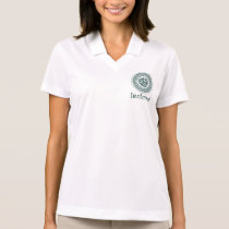 Celtic Knotwork Irish Medallion Pattern in Green Polo Shirt