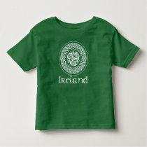 Celtic Knotwork Irish Medallion Pattern in Green Toddler T-shirt