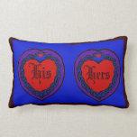 Celtic Knotwork Love Heart Lumbar Pillow