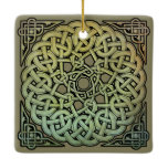 Celtic Knotwork Mandala Ceramic Ornament