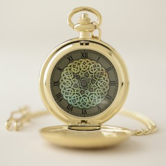 Celtic Knotwork Mandala Pocket Watch