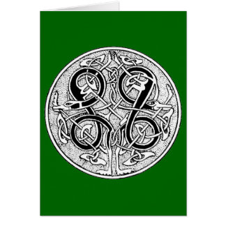 Celtic knotwork on any color card