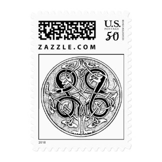 Celtic knotwork on any color postage