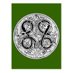 Celtic knotwork on any color postcard