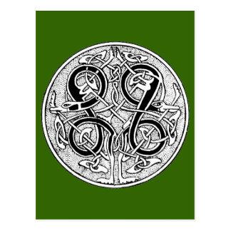 Celtic knotwork on any color postcard