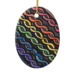 Celtic Knotwork Pride Flag Ceramic Ornament