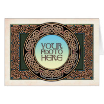 Celtic Knotwork Round Photo Frame Greeting Card