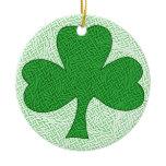 Celtic Knotwork Shamrock Ceramic Ornament