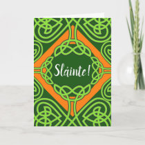 Celtic Knotwork Sláinte St. Patrick's Day Card
