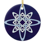Celtic Knotwork Snowflake Ceramic Ornament