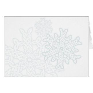 Celtic Knotwork Snowflakes Card