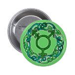 Celtic Knotwork Transgender Symbol 2 Inch Round Button