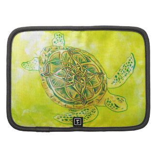 Celtic Knotwork Turtle by Janin Wise Folio Planner
