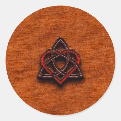 Celtic Knotwork Valentine Heart Canvas Texture 1