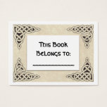 Celtic Lace bookplate Business Card