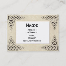 Celtic Lace chubby business card