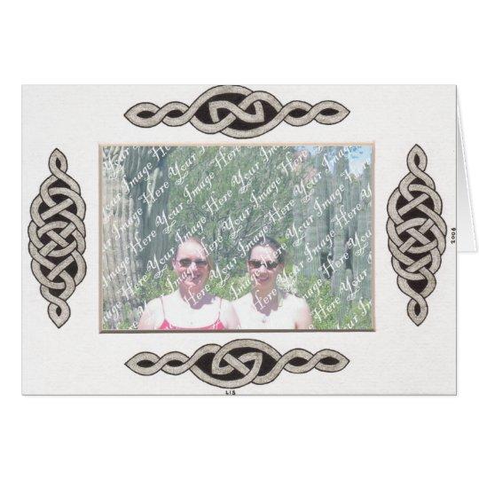 Celtic Lace II Frame card (horizontal)
