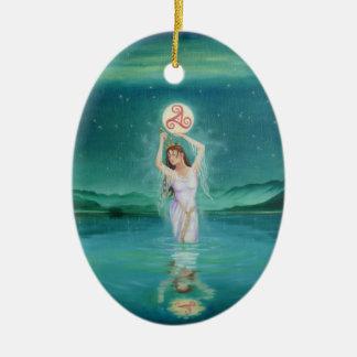 """Celtic Lady of the Lake"" Ornament-Goddess Ceramic Ornament"