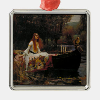 Celtic Lake Ghost Story of Girl Lady of Shalott Metal Ornament