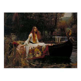 Celtic Lake Ghost Story of Girl Lady of Shalott Postcard