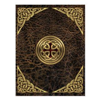 Celtic Leather Postcard