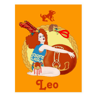 Celtic Leo Tarjeta Postal