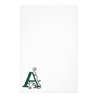 Celtic Letter A stationery