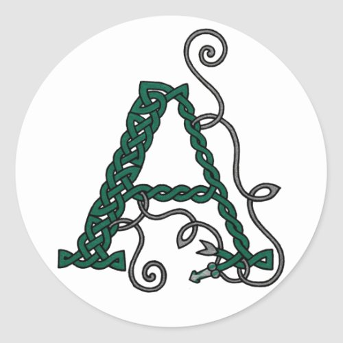 Celtic Letter A Stickers