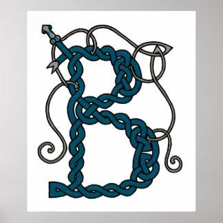 Celtic Letter B print