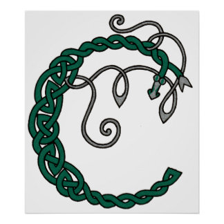 Celtic Letter C print