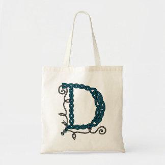 Celtic Letter D bag