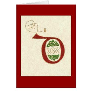 CELTIC LETTER D GREETING CARD