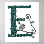 Celtic Letter E print